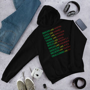 Black History Black Pride Sweatshirt Hoodie Black Power Hoodie Afro Malcolm X