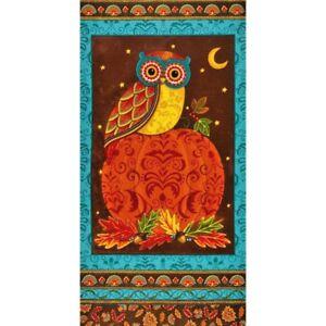 Moda Forest Fancy Owl panel 24 by 44 inches cotton print Deb Strain Moda