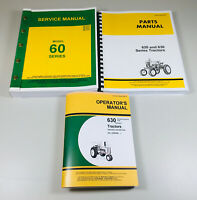 SERVICE PARTS OPERATORS MANUAL FOR JOHN DEERE MODEL 630 TRACTOR REPAIR SET
