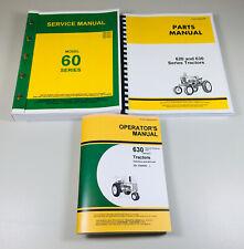Service Parts Operators Manual For John Deere Model 630 Tractor Repair Set