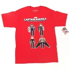 Marvel Comics Superhero Captain America Men's Size LG 100% Cotton T-Shirt NWT
