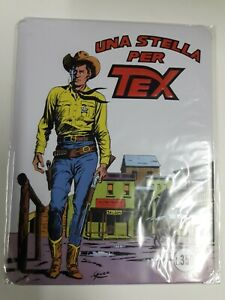Tex Copertine da Collezione -Una Stella per Tex- Targa in Metallo