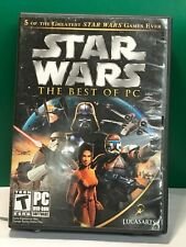 Star Wars: The Best of PC WITH CASE AND GAMES ONLY (PC, 2006) (BIG BOX)