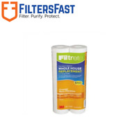 3M Filtrete Grooved 5 Micron Water Filter Cartridge 2-Pack 4WH-STDGR-F02