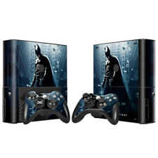 Microsoft XBOX 360 E Skin Sticker Decal Cover 2 Controllers BATMAN