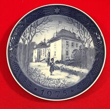 Royal Copenhagen Christmas Plate,1975, The Queens Christmas Residence, Free Shpg