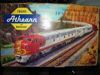 HO Athearn Santa Fe Train Set 6 Car Freight Loco Caboose 6296