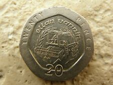 COIN HUNT -1993  RARE ISLE OF MAN 20P COIN * COMBINE HARVESTER * I.O.M MAN