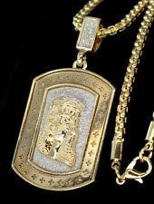 "Jesus Piece 3mm Venetian 24"" Chain Gold Finish Bling Hip Hop Pendant Combo"