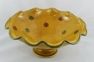 Vintage Centre Of Table Fruit Of Ceramic Painted Hand And Esmaltada. Years 80