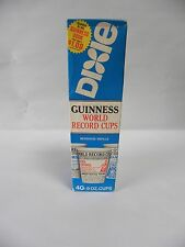 "Sealed ""40""  9 OZ VINTAGE DIXIE CUPS  ""GUINESS WORLD RECORD CUPS"" (A5)"