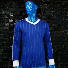 Adidas Vintage Football Jersey Long Sleeve Blue Shirt West Germany Mens Size L