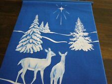 TRI CHEM  CHRISTMAS STAR AND DEER PANEL  ARTS AND CRAFTS