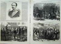 Old Antique Print War 1870 Pemberton Prussian French Officers German Art 19th