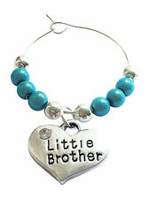 Little Brother Wine Glass Charm with Gift Card by Libby's Market Place - FREE PP
