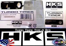 HKS TURBO TIMER BLACK TYPE-0 ZERO RED LCD Fits For Subaru Mitsubishi EVO WRX STi