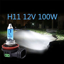 2Pcs H11 12V 100W Super Bright Ultra White Fog Halogen Bulb Car Head Light Lamps
