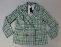 Nasty Gal Women's Don't Feel Plaid Relaxed Blazer TM8 Green Size US:8 UK:12 NWT