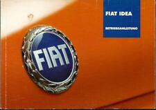 FIAT IDEA Betriebsanleitung 2005 Bedienungsanleitung Handbuch Bordbuch  BA