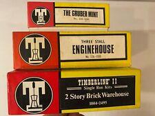 Vintage HO-RR Structure lot of (3) TIMBERLINE Scale Model Unbuilt Kits