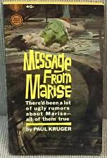 Paul Kruger / MESSAGE FROM MARISE First Edition 1963