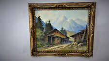 tableaux de montagne Chamonix Paul Farjat,Mountain painting, watercolor mountain