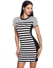 Kristy - Beautiful New Ladies Size 10-12 Black & White Stretch Shift Dress