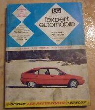 revue technique l'expert automobile N°200 CITROEN BX + FICHES TECHNIQUES