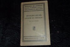 Buchholz: Anthologie aus den Lyrikern der Griechen (1911)