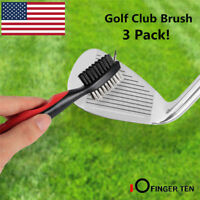 Golf Club Brush Frogger Brushpro Groove Cleaner Retractable Snap Clip Carabiner