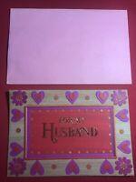 Vintage Hallmark Greeting Card For My Husband Valentines Card