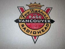 FOO FIGHTERS RADIOHEAD THE RAGE 1997 VINTAGE CONCERT TEE SHIRT XL