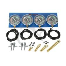 Vacuum Gauge 4-Carb Carburetor Carburetter Synchronizer Set kit Hoses Extensions