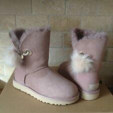UGG Irina Swarovski Crystal Pin Toscana Pom Pom Dusk Suede Boots Size 5 Womens