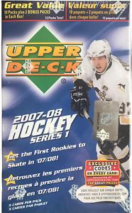2007-08 Upper Deck Series 1 NHL Ice Hockey Blaster Box NEW Price&Kane Young Guns