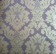 Arthouse Da Vinci Floral Damask Purple Metallic Feature Wallpaper 405102 NEW
