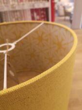 Drum Lampshade - Plain Linen, Saffron