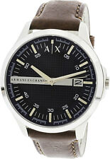 Armani Exchange Men's Hampton AX2133 Brown Leather Japanese Quartz Fashion Watch