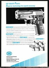 1990 SIG SAUER P228 Pistol UK AD Collectible Gun Advertising