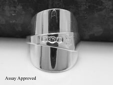 BEAUTIFUL SOLID STERLING SILVER SPOON RING SIZE:  Q