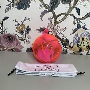 Lulu Guinness Women's Orb Clutch/Neon Pink/Defective/(Box-62)