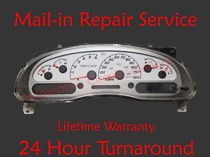 04-08 Ford Sport Trac Dash Instrument Gauge Cluster Display REPAIR SERVICE