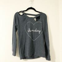 "Chaser ""Sunday"" Destroyed Comfy Lounge Wear Sweatshirt Size Small NWT"
