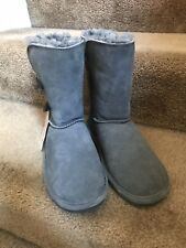 Bearpaw Woman's Grey Suede Boots Size 7