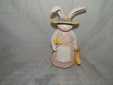 Rabbit, Holding A Watering Can & Yellow Tulips, Figurine