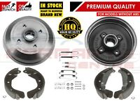 FOR VAUXHALL CORSA B NOVA TIGRA REAR BRAKE DRUMS SHOES & FITTING KIT NON ABS