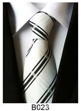 New Classic Men's Tie Necktie White Paisley 100% Silk JACQUARD WOVEN