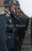 WW2 Picture Photo Cleanly dressed German Luftwaffe soldiers in Formation 3272