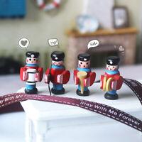 4Pcs/set 1/12 Dollhouse Miniature Accessories Mini Wooden Drum Band Doll Y liSL