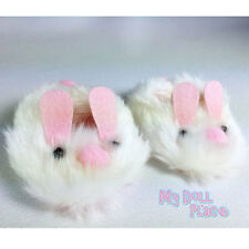"Bunny Slippers White Pink Shoes fit 18"" American Girl Doll Clothes Accessories"